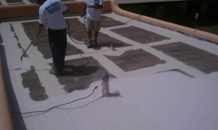 Roofer installing slate roof in Jonah, TX.